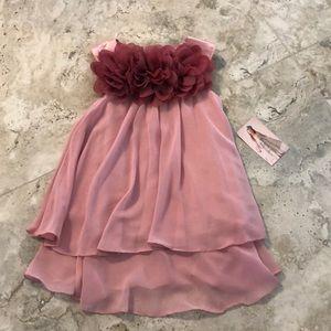 Kids Dream Mesh Flower Chiffon Dress